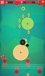 Screenshot von Schwenken Sie auf rotierenden Kreisen, um zu sehen, wie hoch Sie gehen können!