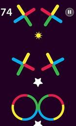 Screenshot von Lass den Ball durch Hindernisse springen, sobald die Farben übereinstimmen.