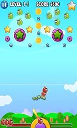 Screenshot von Ziel und schieße die rote Blase ab. Zerstöre alle Blasen und sammle Sterne und Münzen für Extrapunkte. Viel Glück...