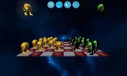 """Screenshot von """"Fantastic Checkers 2"""" nimmt das super populäre Checkers Spiel und bewegt es in den Weltraum."""
