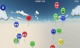 """Screenshot von In """"Balloon Blowout"""" sind die Ballons entkommen und es ist deine Aufgabe, sie zu knacken, bevor sie alle wegkommen."""