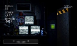 Screenshot von Versuchen Sie, während 5 Nachtschichten im Vergnügungspark zu überleben, wo unheimliche Animatronik herumlaufen.