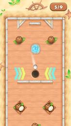 Screenshot von Unterhaltsames Minigolfspiel mit vielen Levels und schwierigkeitsbasierter Steuerung.