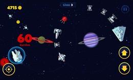 Screenshot von Fliege dein Raumschiff und bleibe so lange wie möglich am Leben.