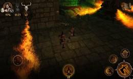 Screenshot von ** WiFi ist notwendig, um sich mit dem Spiel zu verbinden **  Hilf Ares, den legendären Drachenblutstein zu finden und den Zauberer zu besiegen.