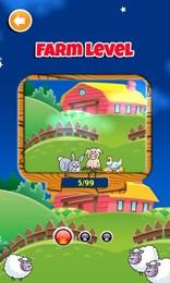 Screenshot von Animal Match Ups ist ein lustiges und süchtig machendes Match 3-Spiel mit über 250 herausforderbaren Levels und 2 Spielmodi.