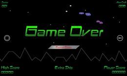 Screenshot von Mit unerbittlichen außerirdischen Handwerken, intelligenten Bomben, Bodenangriffen und Meteoritenstürmen konfrontiert; Deine Mission ist es zu überleben!