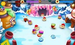 Screenshot von Ein dynamisches Abenteuer. Beschütze köstliche Süßigkeiten vor den unverschämten, diebischen Gnomen!