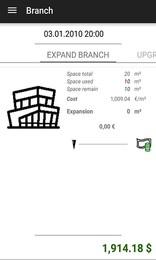 Screenshot von Ein Idle Tycoon Spiel mit den Elemente der Angebot und Nachfrage. Finde den optimalen Preis, um deinen Gewinn zu maximieren.