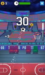 Screenshot von Unbegrenzter Basketball-Spielspaß! Du musst schnell und treffsicher sein!