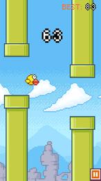 Screenshot von Ein klassisches zugbasiertes Arcade-Spiel mit vielen Levels und Modi. Kannst du den Tubby-Vögeln helfen, zu fliegen?