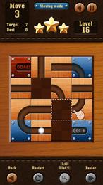 Screenshot von Ein klassisches Verschiebe-Puzzle, bei dem du die Holzkacheln bewegen musst, um den Weg vom Start bis zum Ziel freizumachen. Finde sie und beweise deine Fähigkeiten!