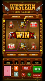Screenshot von Spiele wie im Casino und erlebe den Nervenkitzel Las Vegas'. Erlebe den Spaß eines Western-Spielautomaten für die Hostentasche.
