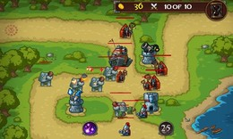 Screenshot von Es ist Zeit, zurück zu kämpfen. Baue eine Verteidigungslinie, schalte die verschiedenen Waffen ein und verteidige das Königreich.